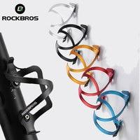 ROCKBROS uchwyt rowerowy na bidon Ultralight stop Aluminium 3D geometryczne kolarstwo MTB Road bidon rowerowy klatka akcesoria rowerowe w Uchwyty na bidon rowerowy od Sport i rozrywka na