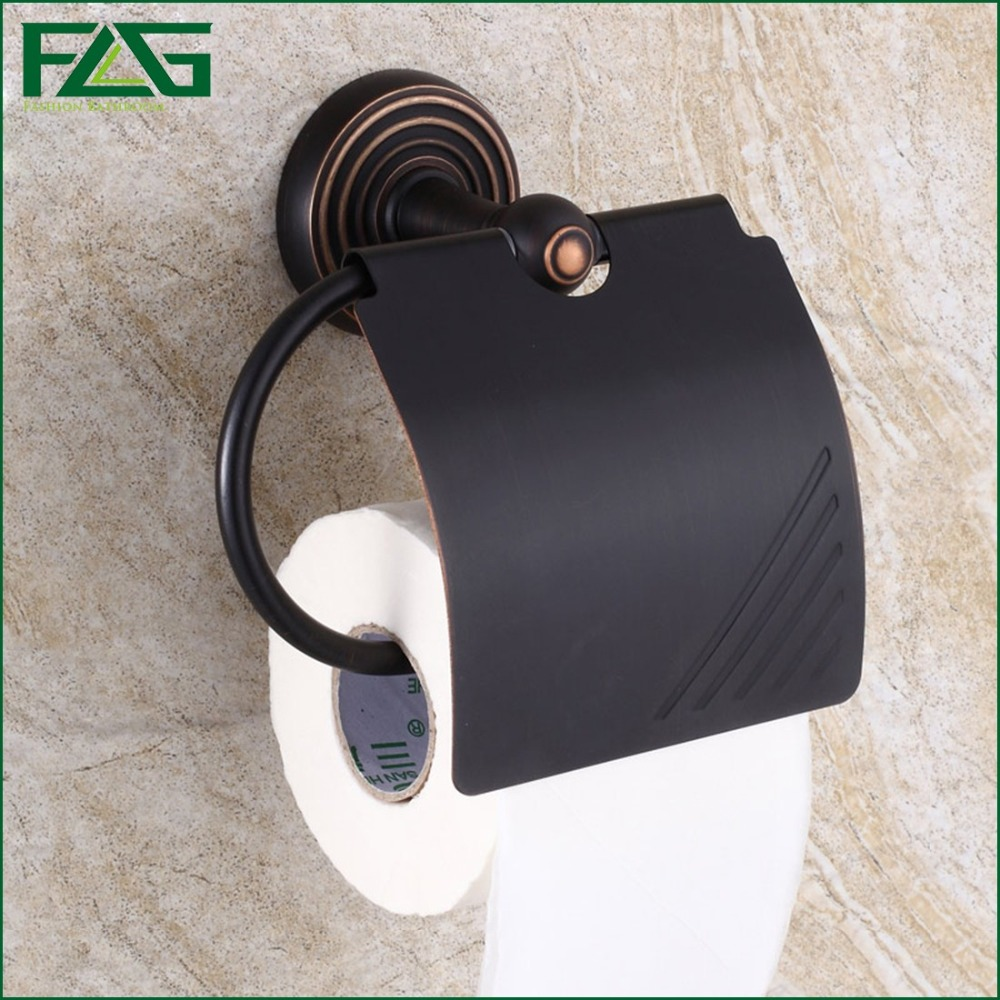 ФОТО FLG Good Quality New Arrival Oil Rubbed Bronze Finishing Brass Paper Holder Roll Holder Tissue Holder Bathroom Accessories G605