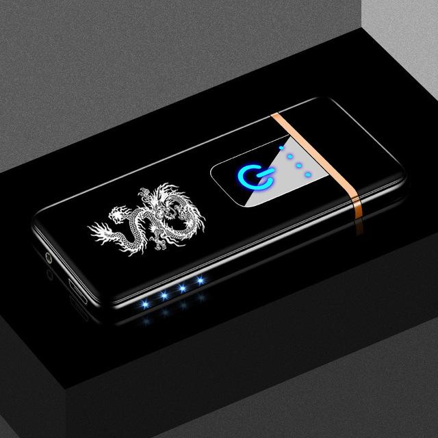 Net Red Wind-proof Touch Sensor Side-lamp USB Charging Lighter to Send Boyfriend