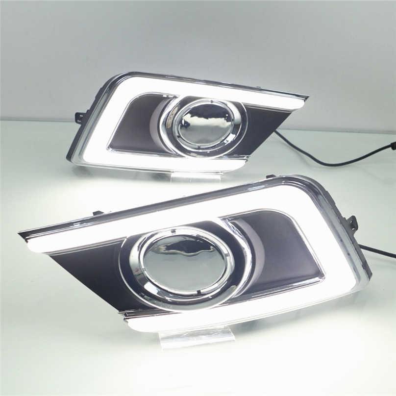 Автомобильный мигающий 2 шт. для Nissan Sentra 2016 2017 светодиодный DRL дневные ходовые огни дневного света водонепроницаемая сигнальная лампа автомобильный стиль света