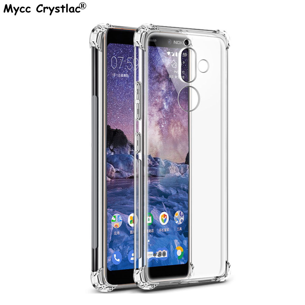 Ultra Transparent Soft Case For Nokia 2.1 3.1 5.1 Clear Cover Silicone For Nokia 1 2 3 5 6 7 8 9 & 6 X6 2018 & 7 Plus Cases