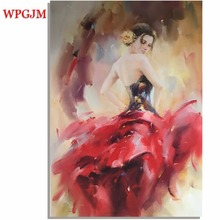 High-grade Hand Painted Large size Oil Paintings Bars Clubs Offices Bedrooms Dancing Women Canvas Art Unframed.Free Shipping