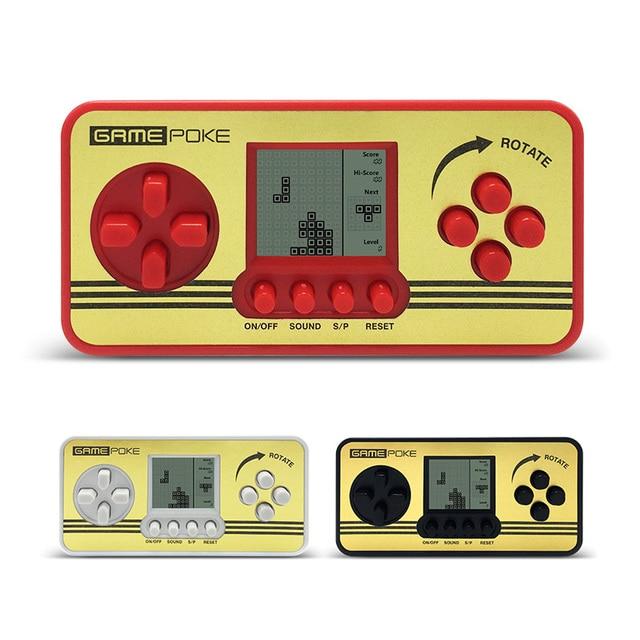 2 Unids Retro Ninos Clasico Jugadores Portatil Tetris Handheld