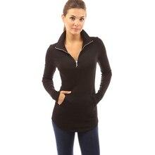 цена на camisetas mujer womens fashion woman tops winter 2015 sexy v-neck long sleeve cotton t shirt women slim t-shirt femme plus size