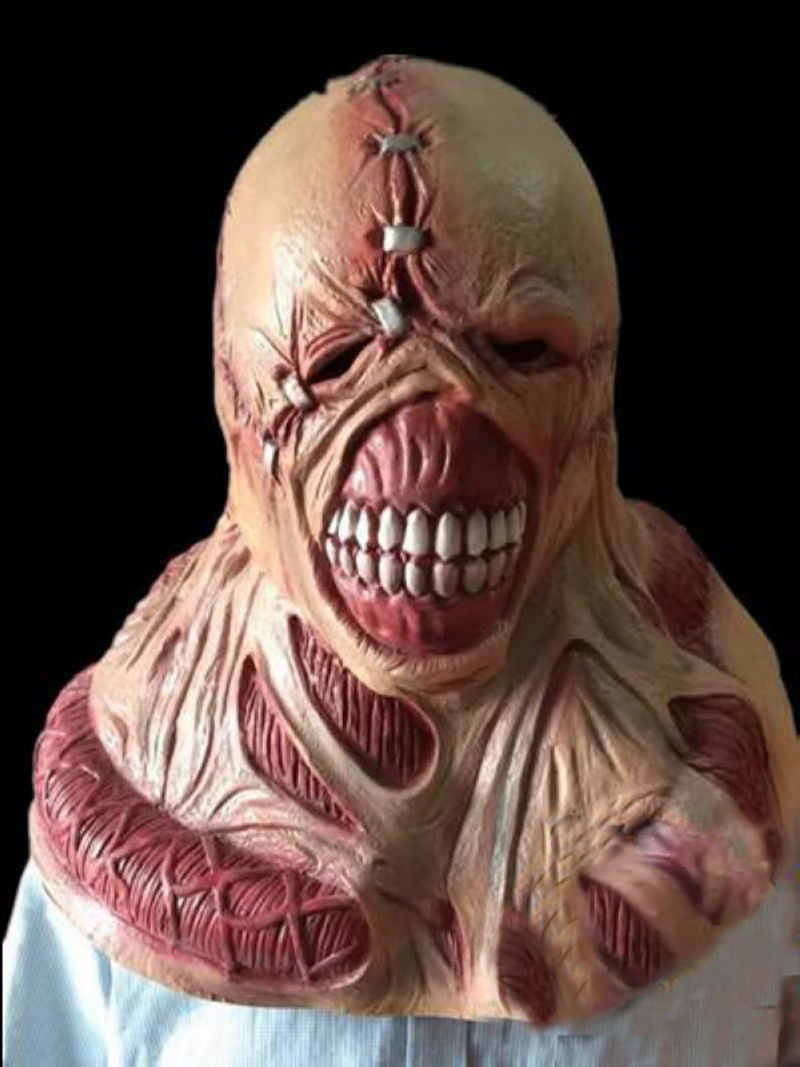 scary latex mask fortress of fear game resident evil manic ghoul mask halloween party mask zombil movie game cosplay in party masks from home garden on