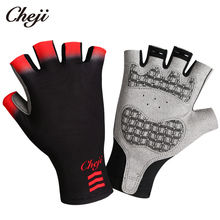 CHEJI Cycling Gloves Mul-ti Color Men Women Bike Half Figner Gel Palm Pro Team Bicycle Sport