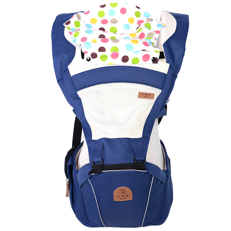 2 In 1 Ergonomic Baby Carrier Multifunctional Baby Sling 4 Seasons Breathable Hooded Kangaroo For 3