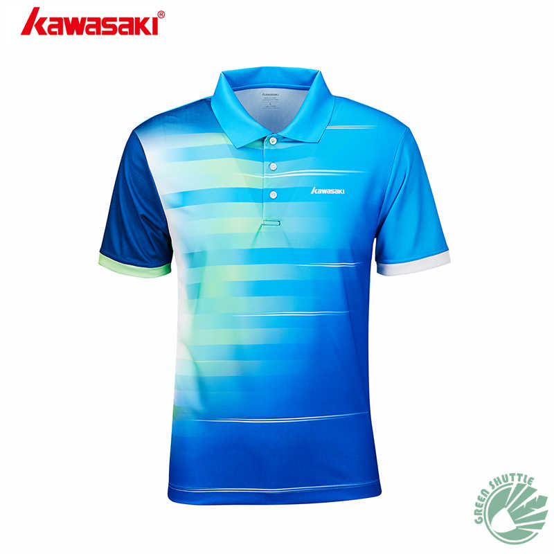 2019 Genuine Kawasaki Shirts For Men And Women Function Material Badminton Clothes Quick Dry Breathable T-Shirt ST-S1102