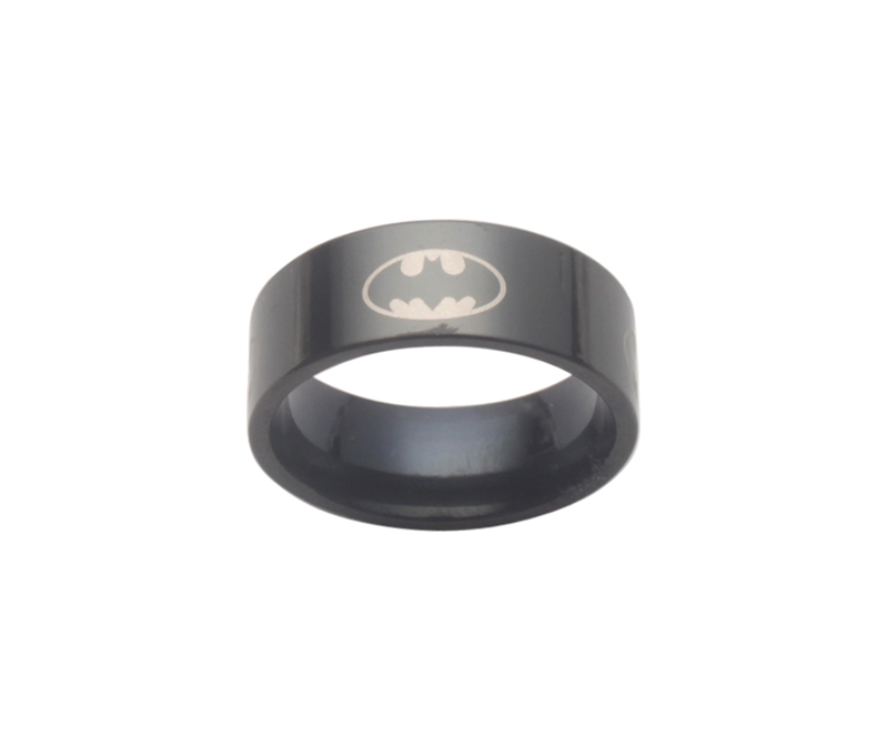 6 шт модный титановый Бэтмен из нержавеющей стали кольцо