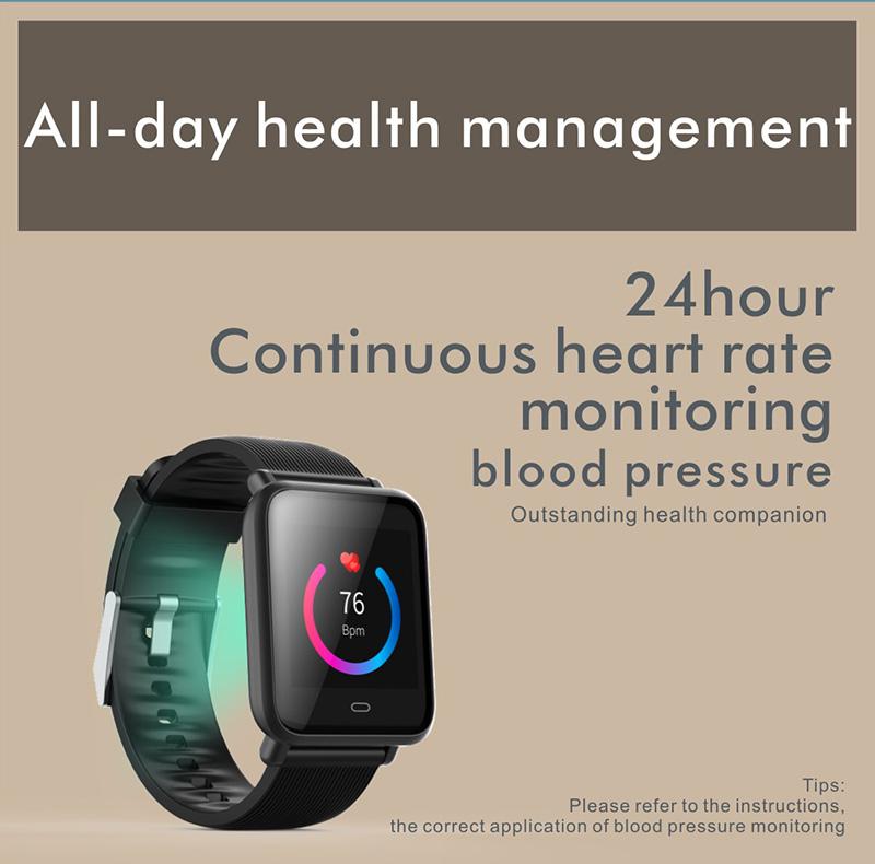 Reloj inteligente IP67 con Monitor de ritmo cardíaco 22