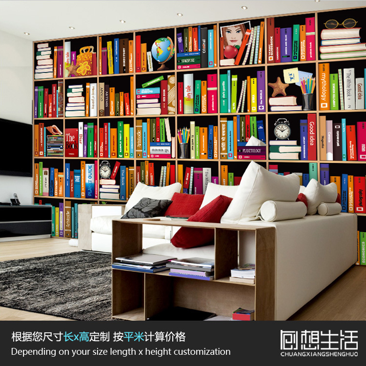Mural Simple modern bookshelves large background 3D wallpaper 3D murals TV room bedroom dining corridor custom 3D wallpaper mural children room large murals kindergarten background wall 3d wallpaper murals seamless 3d 3d wallpaper space exploration