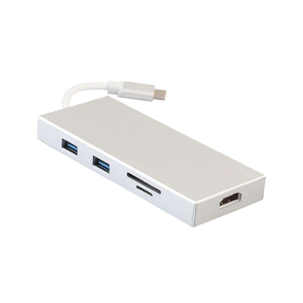 Lecteur de cartes usb Adaptateur USB-C Numérique AV Multi-adaptateur de port AVOTCH C Hub 3.1 lecteur de cartes HDMI 4 K Sortie pour ordinateur téléphone z65