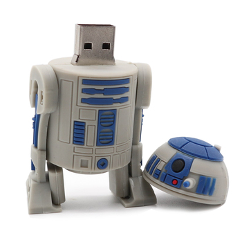цена на The New pendrive usb stick cartoon Robot usb flash drive Star Wars pen drive 4GB 8GB 16GB 32GB 64G creative pen drive 128GB