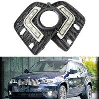 2015 Hot Sale 2PCS Super White 5 LED Cree E70 NT Car Daytime Running Light Auxiliary