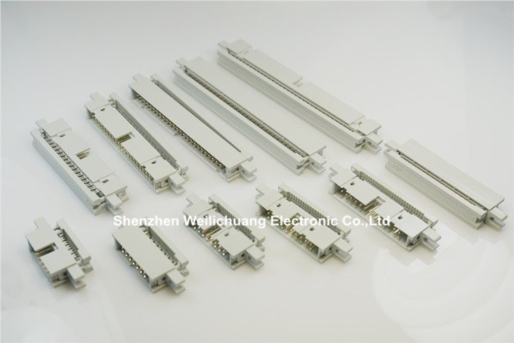5 pcs 0.100 2.54mm IDC Type Box header Male Headers 10 14 16 20 26 30 34 40 50 60 64 Pin Flat cable 1.27mm 0.050 connector 10 pcs 1 27mm x1 27 mm box header 2x8 pin 16 pin dual rows through hole dip type straight male shrouded pcb idc socket
