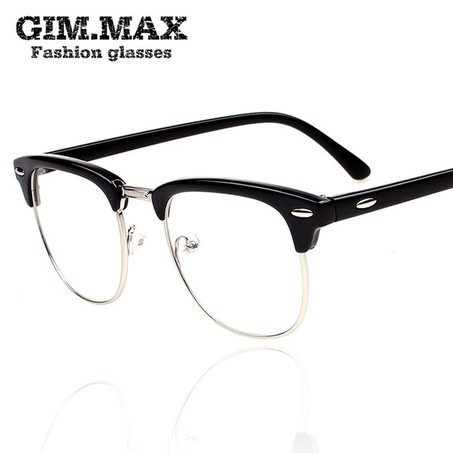 050667c5304 Vintage gimmax black-rimmed glasses frame male star style box fashion female  eyeglasses frame plain glass spectacles