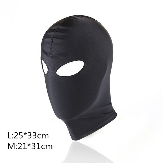 Sexy high elastic Latex Hood Black Mask 4 tyles Breathable Headpiece Fetish BDSM Adult for party 5