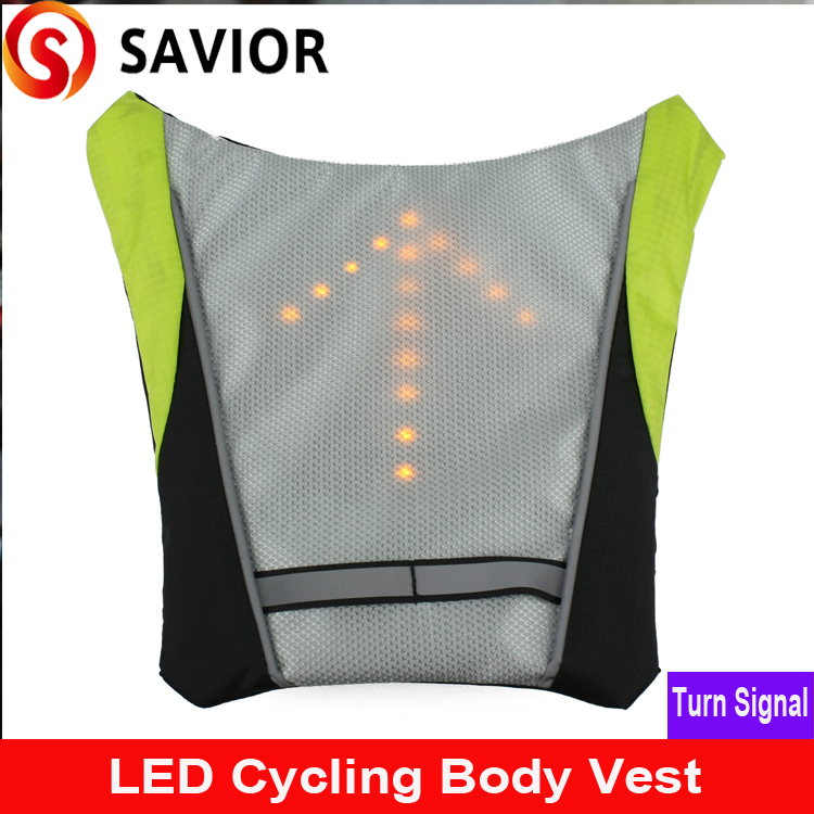 SAVIOR LED turn Signal Light body vestIndicator Remote Control LED Bike lights for Backpack outdoor hiking biking riding camping pair 9600lm w cree cob chips h1 h3 h4 h7 h8 h9 h11 880 881 9005 9006 9012 car led headlight kit bulbs 6000k white