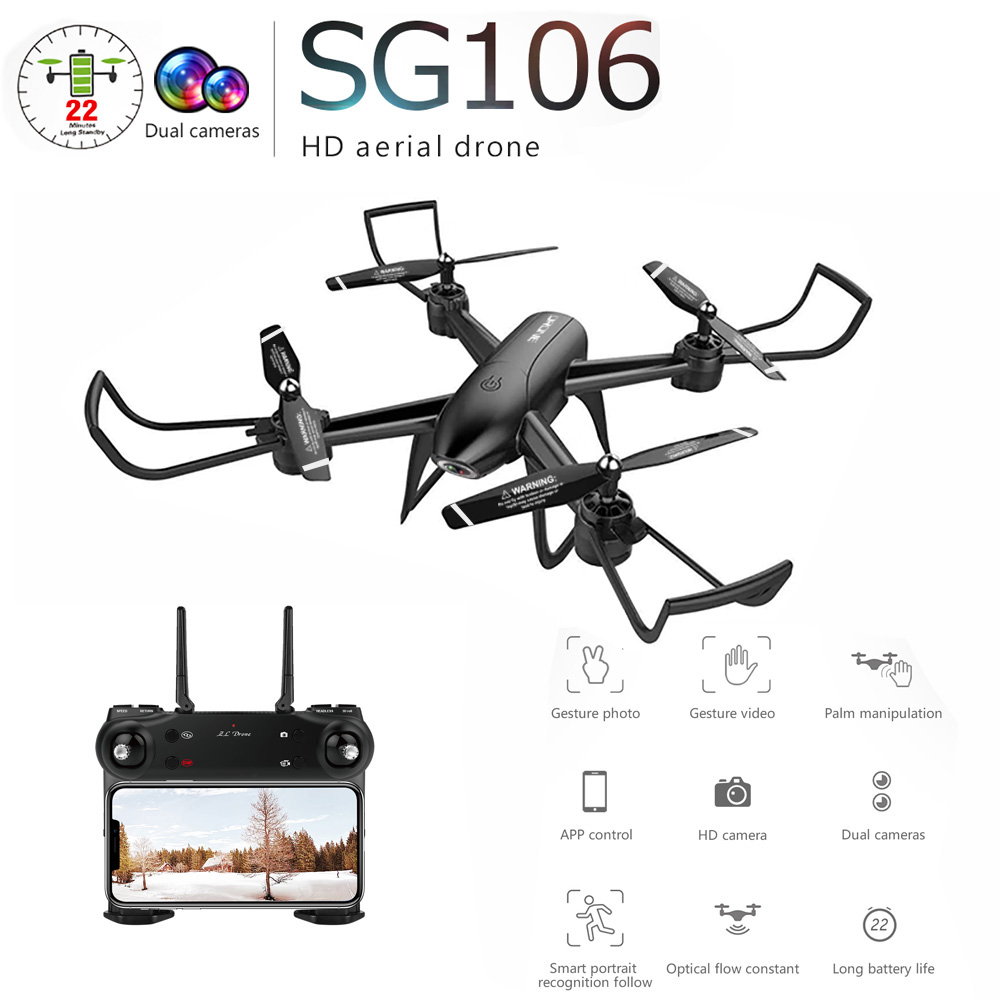 SG106 RC Helicopter Drones With Camera HD 1080P Drone WIFI FPV Dual  Wide Angle Optical Flow  Quadcopter VS S20 E58 F11SG106 RC Helicopter Drones With Camera HD 1080P Drone WIFI FPV Dual  Wide Angle Optical Flow  Quadcopter VS S20 E58 F11