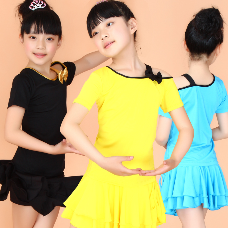 90-160cm Girl Kids Latin Dance Dress Children Fancy Sexy Dress Disfraz Infantil Samba Costume Children Salsa Rumba Tango Clothes