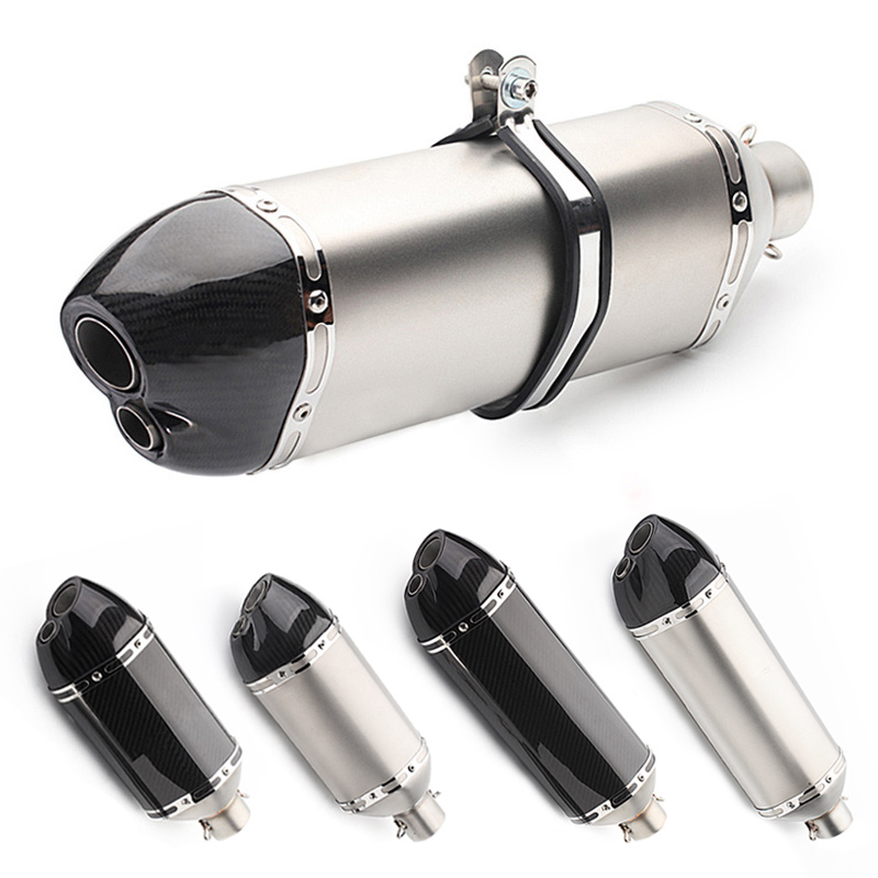 Universal Motorcycle muffler exhaust pipe akrapovic modified escape moto carbon for cbr650f er6n cb100 smax155 cb1000r