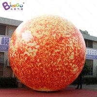 מכירה חמה תאורת LED 6 M שמש מתנפח ענק בלון דגם צעצוע שמש קישוט מותאם אישית עבור שלב מסיבת צעצוע אבזר כדור הארץ