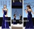 2017 Arabia Singer Myriam Fares Long Sleeve With Beaded Mermaid Floor length Velvet Evening Celebrity Dresses
