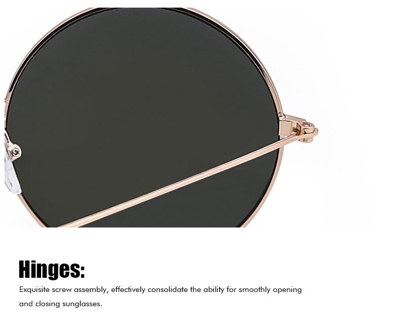 Ezra Reflective Retro Round Sunglasses Womens Mens