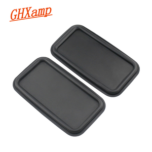 Image 1 - GHXAMP 8inch Flat Bass Passive Radiator Speaker Resonant Diaphragm Rubber sheet iron For 6.5 inch 8 inch Subwoofer 215*120MM 2PC