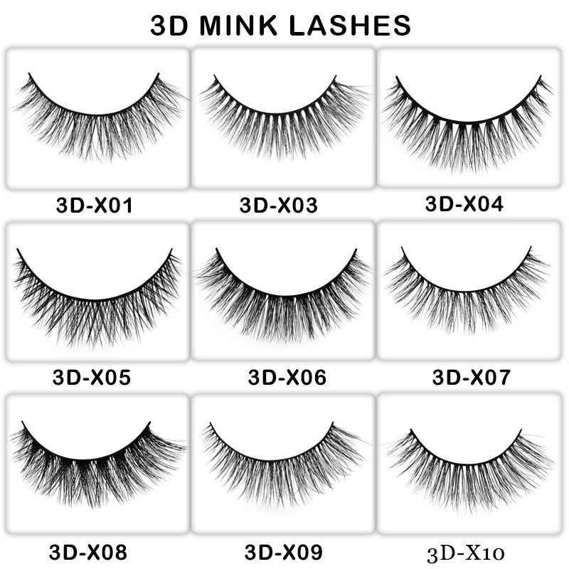 7e3f7a8f563 Detail Feedback Questions about 50 Pairs mink eyelashes customize ...