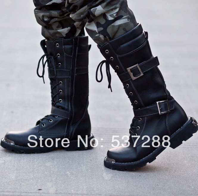 New 2014 Men Motorcycle Boots Fashion Stylish Martin Ankle Flats ...