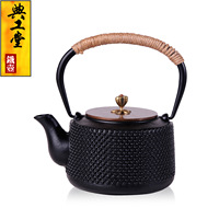 2016 Cast Iron Tea Pot No Coating Japanese Kung Fu Tea Set Handmade Church Retro Kettle Pot With Filter 1L Hot Sale