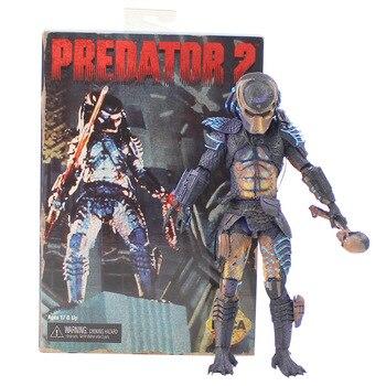 1pcs 22cm NECA Movie AVP Aliens vs Predator Figure Jungle Hunter Series Alien PVC Action Figure Model Toy Doll Gift predator concrete jungle figure