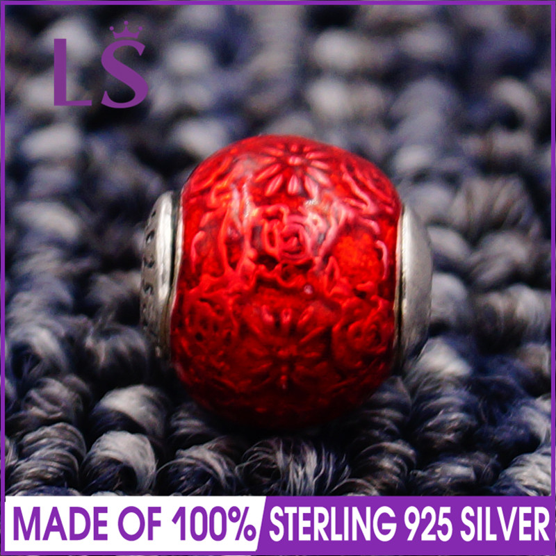 LS High Quality 100% S925 Silver Essence Freedom Charm Beads Fit Original Essence Bracelets Pulseira Essencia.100% Fine Jewlery