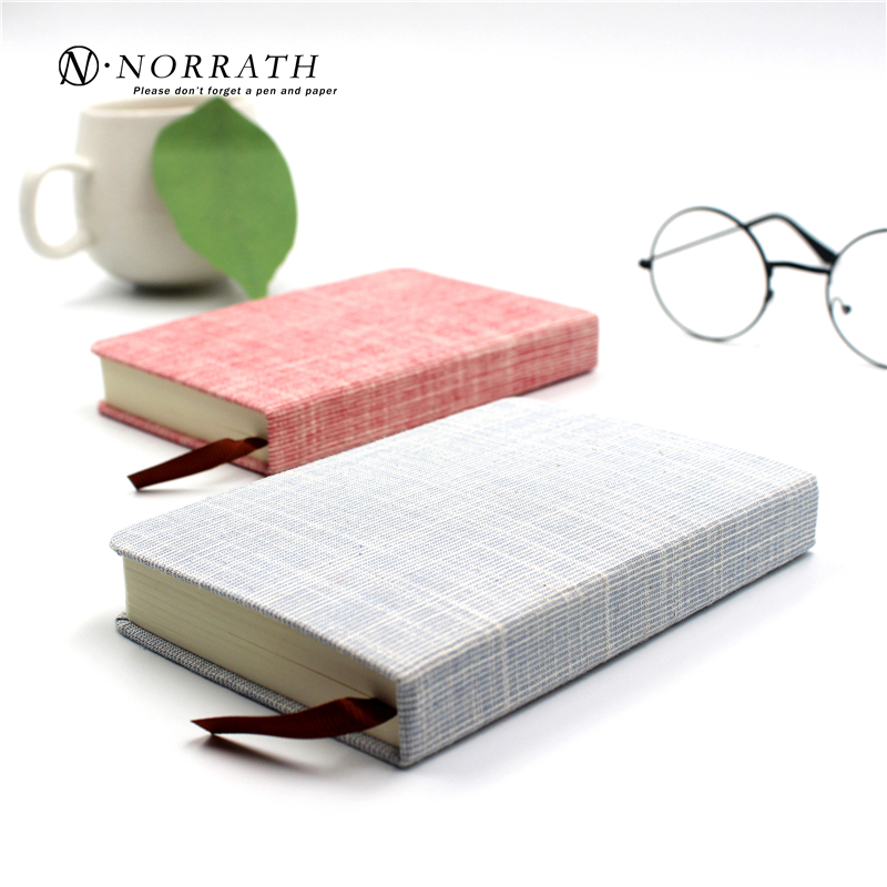 NORRATH A6 Kawaii Cute Stationery Small Fresh Linen Notebook Solid Color Cloth Memo Pad Office School Gift Supplies Notepad stationery products spiral notebook paper a5 a6 notepad black legal pad memo pad office school supplies notebooks