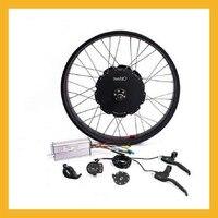 48V 1500W Snowmobile Brushless Non gear Hub Motor Wheel Kit For 26 28inch Rear Wheel Mountain Bike Set Ebike Conversion kit D35