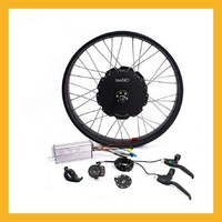 48V 1500W Snowmobile Brushless Non gear Hub Motor Wheel Kit For 26 28inch Rear Wheel Mountain Bike Set Ebike Conversion kit D35