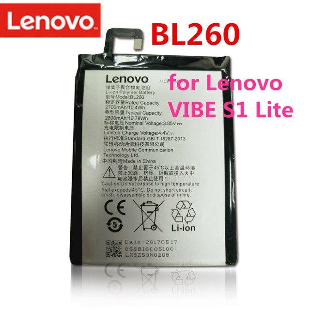 100% Оригинальные Высокое качество 3,85 В 2700 мАч BL260 для lenovo Vibe S1 Lite S1La40 Батарея bl260