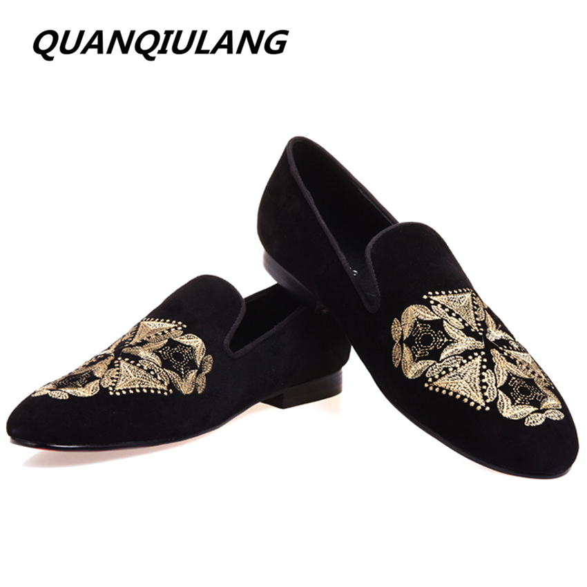 New Arrival Fashion Embroidery Genuine Leather Man Shoes Handmade Wedding and Party Loafers Men Flats Size 39-47 Free Shipping men mixed color shoes 2017 new genuine leather fashion men s flats prom male loafers slip on party wedding shoes size 6 15