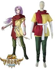 Saint Seiya: Alma de Oro Santos Oro Aries Mu Uniforme de Cosplay del Anime
