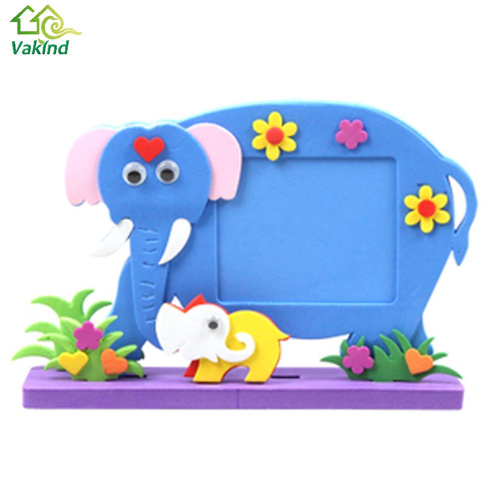 Eva schaum Cartoon Bilderrahmen für Kinder Kind DIY 3D Aufkleber ...