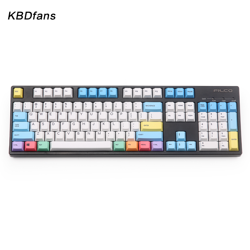 PBT cherry profile chalk keycaps 123keys for mechanical keyboard color keycap dye subbed keycap kbdfans nordic layout pbt keycaps iso cherry profile mac keys gaming mechanical keyboard dye subbed keycap sublimation keycap