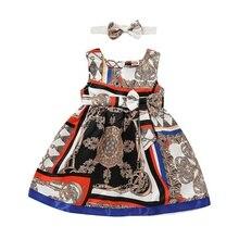 2Pcs Baby Girls Dress Sets Kids Dresses Casual Sleeveless Tutu Sundress Headband 2019 Girls party LOL Toddler Kids Dresses
