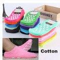 8 PCS = 4 pairs adulto distribuição toalha meias meias de algodão Penteado terry não-escorregar meias chão casa