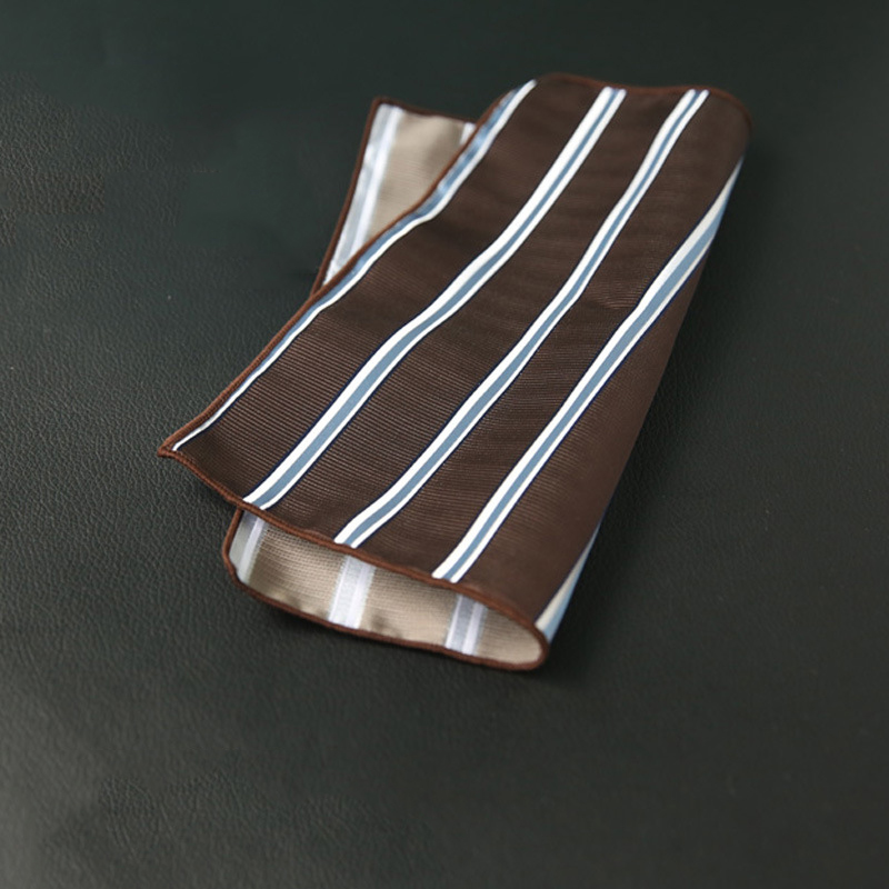 Mantieqingway Polyester Handkerchief Pocket Square For Mens Business Suits Striped Pocket Towel Hankies Plaid Chest Towel
