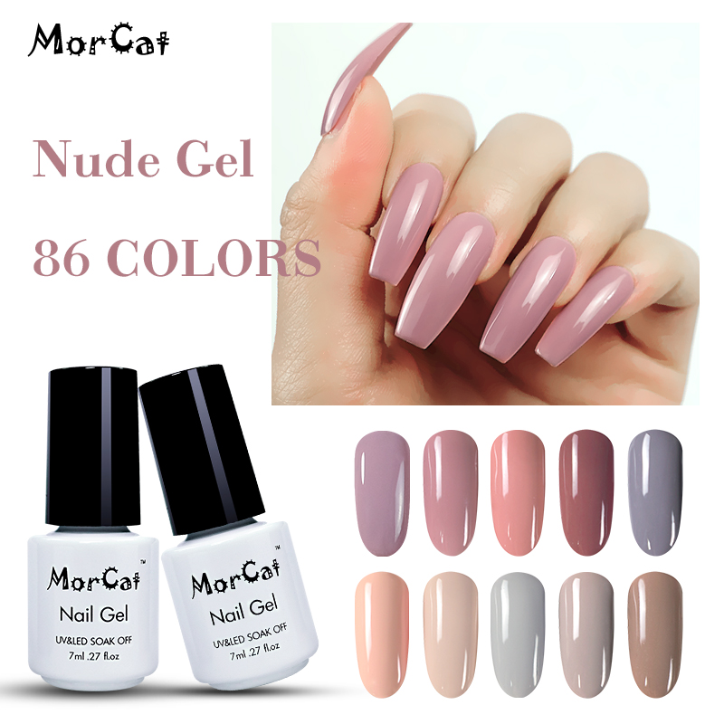 MorCat Gel Nail Polish UV 7ml Nude Pink Color Gel Polish Soak Off Nail Gel Varnish Lacquer Nail Art Vernis Semi Permanant UV