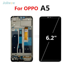 For OPPO A5 full LCD Display Touch Screen with frame Digitizer Replacement Assembly screen for oppo A5 lcd Display Screen