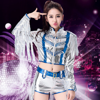 DS sequins costumes New Korean Adult Sequin Jazz Dance Modern Dance Performance Hip Hop DS Performance Kit
