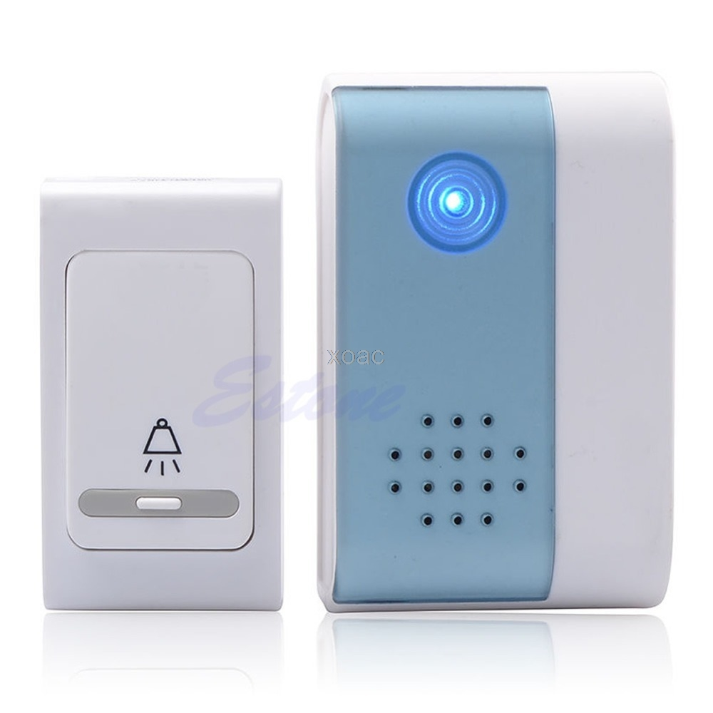 38 Tunes Melody LED Digital Receiver Doorbell Remote Control Wireless Door Bell M08 dropship 38 tune melody digital receiver doorbell 1 remote control 2 wireless door bell m25