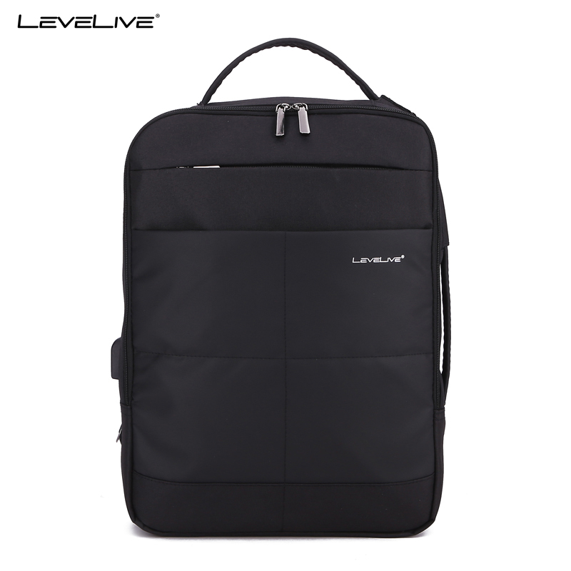 New Levelive Brand Multifunctional 15.6inch Laptop Backpack Usb Men Women Waterproof Travel Bag Bagpack Male Female Mochila
